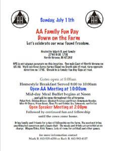 AA Family Fun Day-Down on the Farm @ Mark B's Farm | North Vernon | Indiana | United States