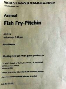 Sunman Fish Fry-Pitchin @ St. John's Church of Christ Parish Hall | Sunman | Indiana | United States