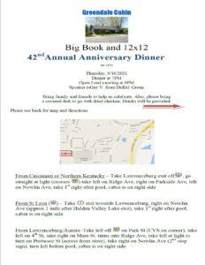 Greendale Cabin 42nd Anniversary Dinner @ Greendale Cabin | Greendale | Indiana | United States
