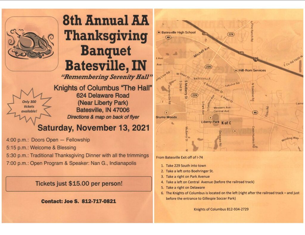 8th Annual Batesville Thanksgiving Banquet @ Knights of Columbus Hall | Batesville | Indiana | United States