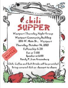 Westport Chili Dinner @ Westport Community Building | Westport | Indiana | United States